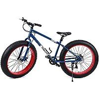 "Ridgeyard 26"" 7 Velocidad fat bike bicicleta de montaña Cruiser bike Bicicleta Paseo deporte playa viajes (Azul marino)"