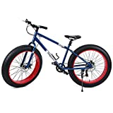 Ridgeyard Vélo Tout Terrain 26' 7 Vitesse Fat Bike Mountain Bike Cruiser Bicycle Beach Ride Travel Sport...