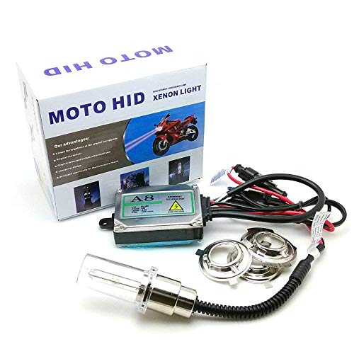 Heinmo Kit de phares HID pour moto 35 W H6M H4 BA20D bi-xénon Hi/Lo (6000 K)