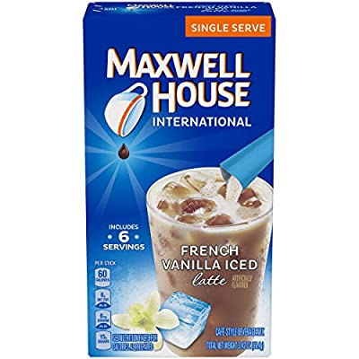 Maxwell House French Vanilla Iced Latte Beverage Mix (48 Packets, 8 Packs of 6)
