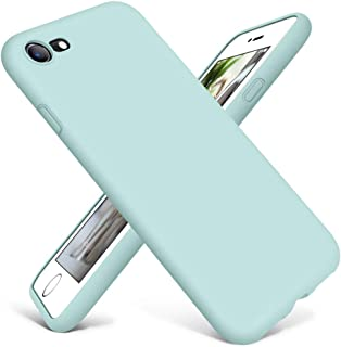 DTTO iPhone SE 2020 Case, iPhone 7 8 Case Silicone, [Romance Series] Protective Phone Case with Honeycomb Grid Cushion for Apple iPhone 7/8/SE 2020, Mint Green