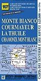 Carta n. 107 Monte Bianco, Courmayeur, Chamonix, la Thuile 1:25.000. Carta dei sentieri e dei rifugi. Serie monti