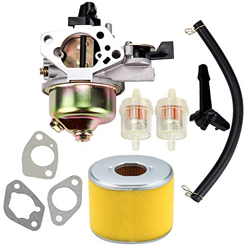 Kuupo GX 390 Carburetor + Air Filter Fuel Line for Honda GX390 Carb Tune-Up Kit 13HP 13 HP Engine Replaces 16100-ZF6-V01 Motor Generator Pressure Washer Parts