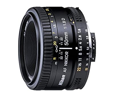 Nikon AF FX NIKKOR 50mm f/1.8D Lens with Auto Focus for Nikon DSLR Cameras by Nikon