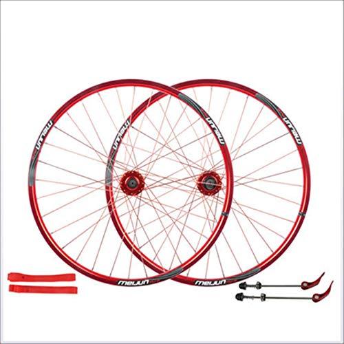 CAISYE 26Inch Mountain Bike Front Wheel Rear Wheel, Bicycle Wheelset Aluminum Alloy Rim Disc Brake Quick Release Aluminum Alloy Disc Brake Sealed Bearings Compatible 7-10 Speed Hybrid Bike