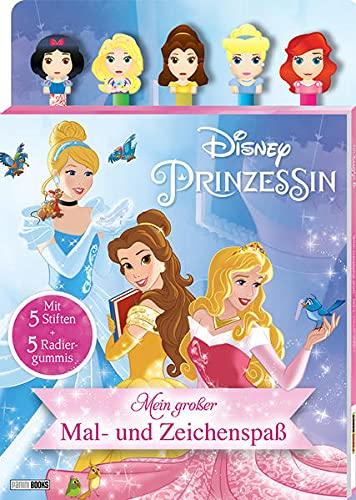 Disney Prinzessin: Mein großer Mal- und Zeichenspaß: Malblock mit 5 Stiften und 5 Radiergummis