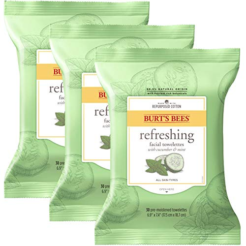 Burt's Bees Sensitive Facial Cleansing Towelettes with Cucumber and...