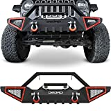 OEDRO Front Bumper Compatible with 2007-2018 Jeep Wrangler JK & Unlimited JKU (2/4 Doors), Rock...