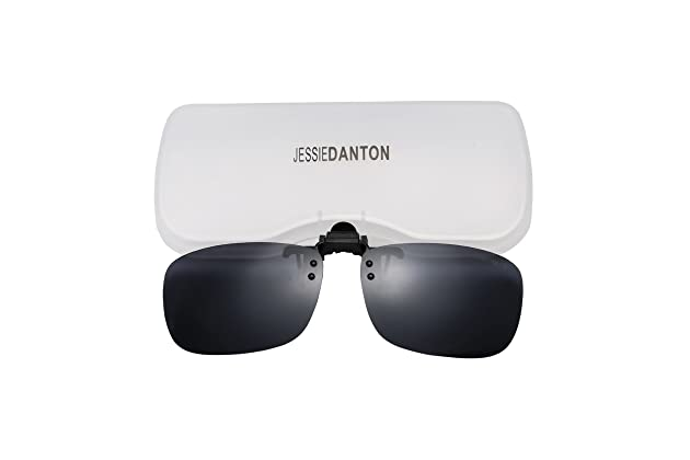 e181a61aea Polarized Clip-on Flip Up Metal Clip Rimless Sunglasses for Prescription  Glasses