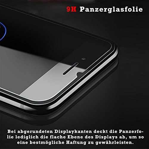 Eximmobile Silikon Case + Panzerfolie für Huawei Ascend Y530 Handyhülle mit 9H Echt Glasfolie Schutzhülle mit Schutzfolie Handytasche Silikonhülle Tasche Hülle Displayschutzfolie Displayschutz - 6