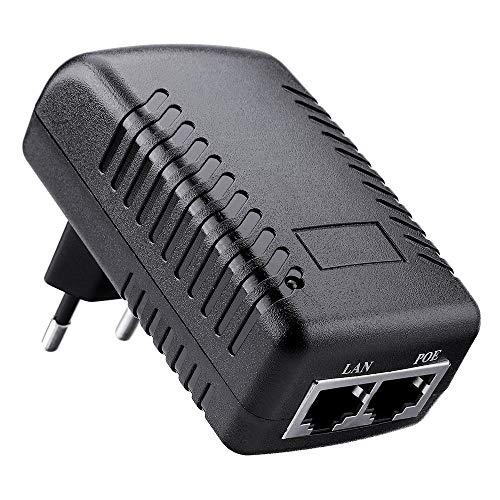 RLJJCS Enchufe de la UE Ethernet PoE INYECTOR DC12V 1A 12W Enchufe de Pared Interruptor PoE Adaptador de Corriente Accesorios electrónicos