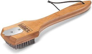Weber 6463 - Cepillo para Parrillas con Cerdas de Acero 30 cm Bambú