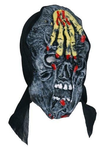 Zombie caoutchouc Skele Masque Visage à la main Jaune