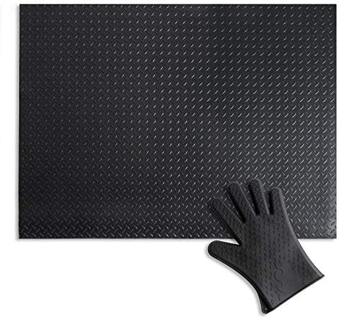 Uperla Premium Under Grill Mat Matte Black 3mm Thick 36 x 48 inches Comes with Heat Resistant product image
