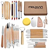 Meuxan 40PCS Pottery Tool Set Clay Sculpting Modeling Tools