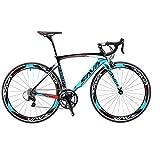 SAVADECK Bici da Strada carbonio,Warwind3.0 700C Bici da Corsa con TORAY T800 Telaio in Fibra di Carbonio con Shimano Sora R3000 18 velocità Ultraleggere biciclette per uomo donna
