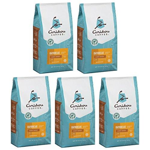 Caribou Coffee Daybreak Morning Blend Light Roast Ground Coffee, 20 oz (Pack of 5)