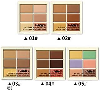 6 Color Cosmetics Cream Concealer Contour and Correct Cream Kit - Contouring Foundation/Concealer Palette - Vegan, Cruelty Free & Hypoallergenic (4)