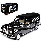 B-M-W 502 Barockengel Bestattungswagen Schwarz 1952-1964 Pro.R18 1/18 Schuco Modell Auto mit individiuellem Wunschkennzeichen