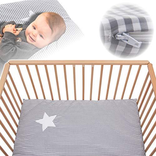 Laufstalleinlage Softy Karo +Tragetasche 100x100cm für Kinderbett Laufstall (100{b1efe15d40b967d6159ccda720a8876cbf2faba661c61f66c6a02a6efb094553} Baumwolle)