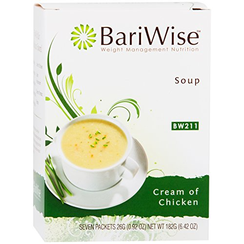 BariWise High Protein Low-Carb Diet Soup Mix - Low Calorie Cream of Chicken (7 Count)