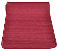 casa tessile tappeto cucina melange largo 53 cm. - bordeaux, 250 cm.