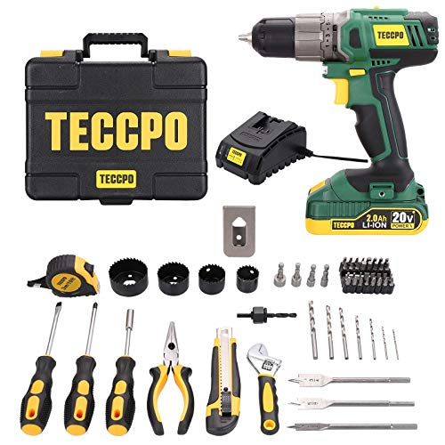 TECCPO 20V Drill Driver with 2.0Ah Battery and Fast Charger Now $64.99 (Was $149.99)