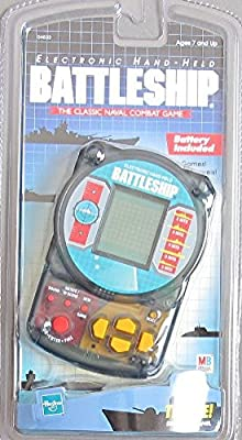 BATTLESHIP Electronic HAND HELD GAME Handheld Classic NAVAL COMBAT w 3 GAMES & SOUND Effects (1999 Hasbro) from Milton Bradley, Hasbro