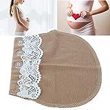 Extensor de pantalones de maternidad, Extensor de pretina de embarazo, Período de embarazo Fácil de usar Institución educativa Educación temprana(Lace-Khaki)