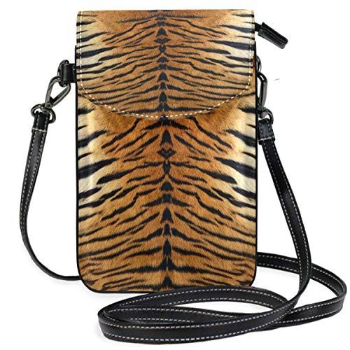 ClownFish Animal Tiger Print Mini bolsos de hombro cruzados Monedero para celular Billetera Bolsa Bolso Cuero...