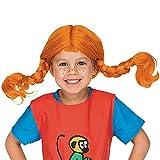 Pippi Langstrumpf Perücke Kinder - Kostüm Mädchen & Jungen 3-6 Jahre - Einheitsgröße - Pippi Langstrumpf Kostüm Kinder - Rote Perücke Kinder - PIPI Langstrumpf Perücken für Kinder - by Micki