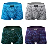 wirarpa Mens Underwear Modal Soft Boxer Brief 4 Pack No Fly Covered Waistb