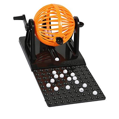 Mini Máquina De Juego De Bingo Juego de Bolas Jaula de Bingo Juego de Mesa, Clásicos para Familias Fiestas y Vacaciones