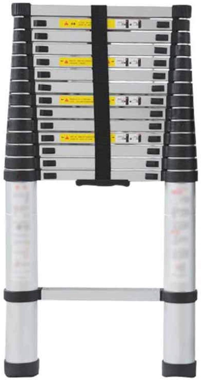 MKJYDM Scala telescopica Scala di Guida Famiglia Portatile Scala Dritta Scala per ascensori Scala di bambù unilaterale in Lega di tuttiuminio Passo Sgabello (Dimensione   5M)