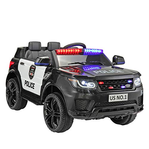 Learn More About 2-Seater Police Ride On Toy 12V Battery Power Electric Ride-on SUV 3 Speeds Siren F...