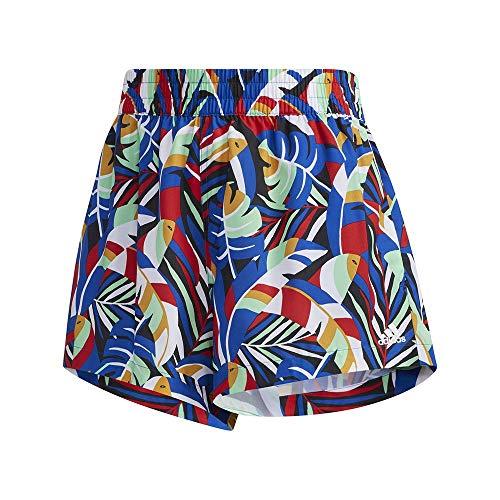 adidas W Farm Short Pantalón Corto, Mujer, azurea/Menglo/Escarl/Negro, S