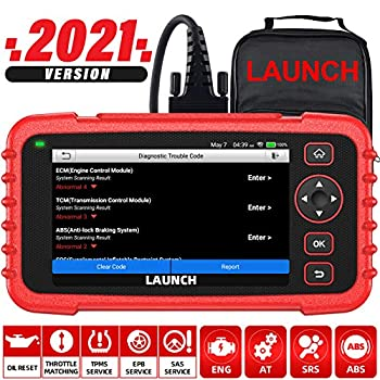 LAUNCH OBD2 Scanner CRP129X 2021 New Scan Tool for ABS SRS Transmission Check Engine Code Reader Oil/EPB/SAS/TPMS Reset Throttle Matching Diagnostic Scanner Android 7.0 AutoVIN Lifetime Free Update