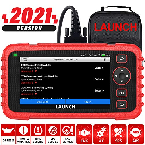 LAUNCH OBD2 Scanner CRP129X Car Code Reader Scan Tool for ABS SRS Transmission Engine Diagnostic, Oil Reset, EPB/SAS/TPMS Reset and Throttle Matching Android Based WiFi AutoVIN Free Update