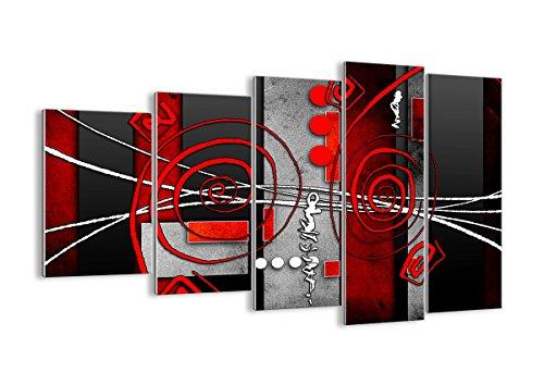 Quadro su Vetro - Cinque 5 Tele - Larghezza: 150cm, Altezza: 100cm - Numero dell'immagine 0599 - Pronto da Appendere - Elementi Multipli - Arte Digitale - Moderno - Quadro in Vetro - GEG150x100-0599
