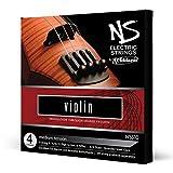 Juego de cuerdas para violín eléctrico NS de D'Addario NS310 escala 4/4, tensión media
