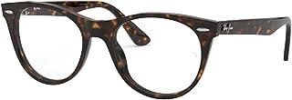 RX2185VF Asian Fit Square Eyeglass Frames, Havana/Demo Lens, 52 mm