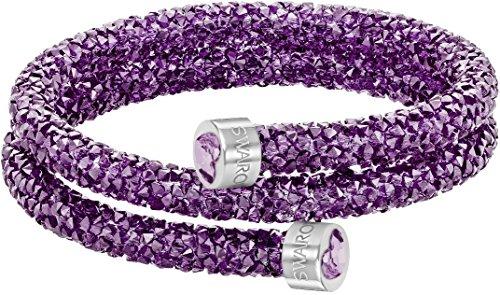 Swarovski Crystaldust cuore doppio braccialetto–Viola–5278497