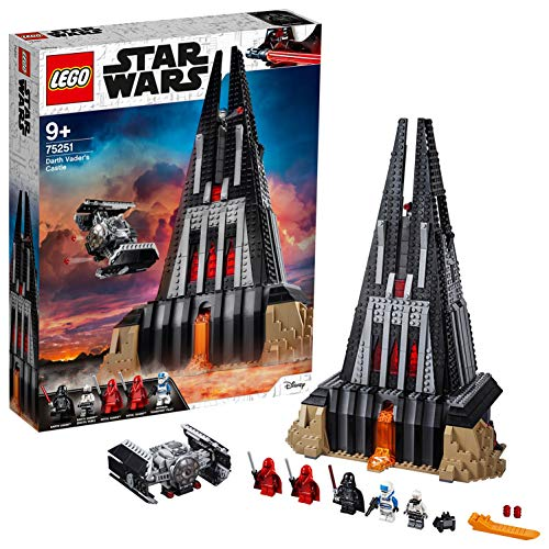 LEGO 75251 Star Wars Darth Vader Castle Playset, Tie Fighter Toy and 5 Minifigures (Exclusive to Amazon & LEGO) Juguete, Multicolor