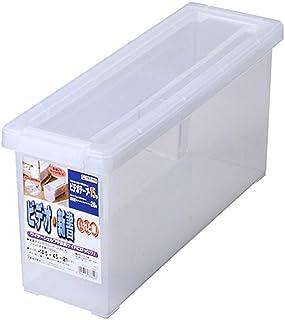 天馬(Tenma) 書籍収納ボックス クリア 幅14.5×奥行45×高さ21cm ビデオ・新書いれと庫