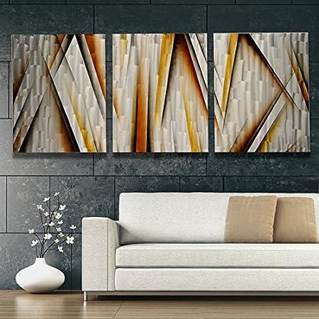 Large Wall Art Metal Modern Rustic Plates Sculpture Accent Farmhouse Home Decor