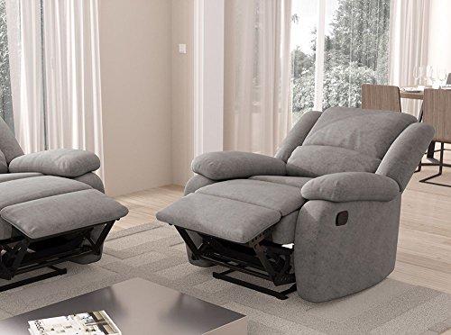 Loungitude Fauteuil de relaxation en microfibre grise