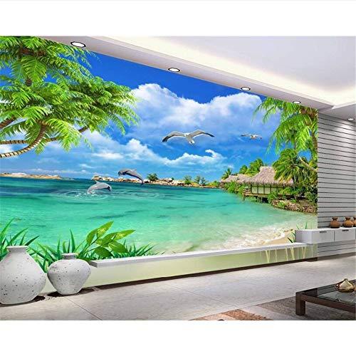 Meaosy Modern Home Tv Achtergrond Muur Behang Hd Zeezicht Strand Landschap Schilderij Behang voor Woonkamer 120x100cm