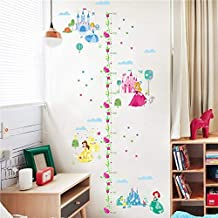 Cartoon Height Measure Wall Sticker for Kids Room Girl Bedroom Fairy Princess Growth Chart Home Decor Removable PVC Mural Poste (4)