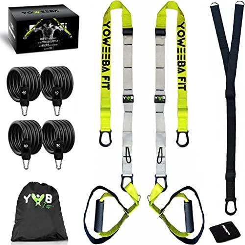 YWB Kit Sangle De Musculation Fitness Professionnelles Pour Entraînement En Suspension Avec Bandes...