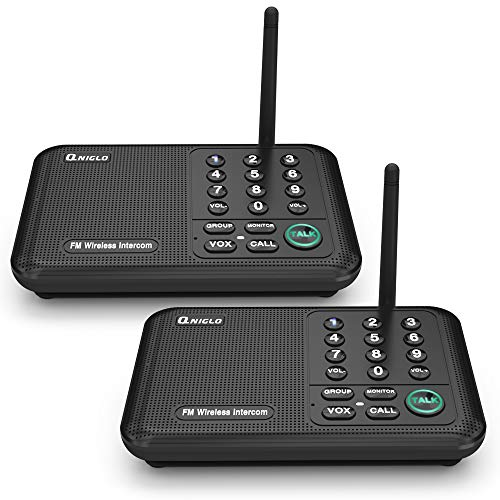 QNIGLO Intercoms, Wireless Intercom System for Home, Long Range House Intercom System for Office, Two Way Wireless Intercom Systems for Business
